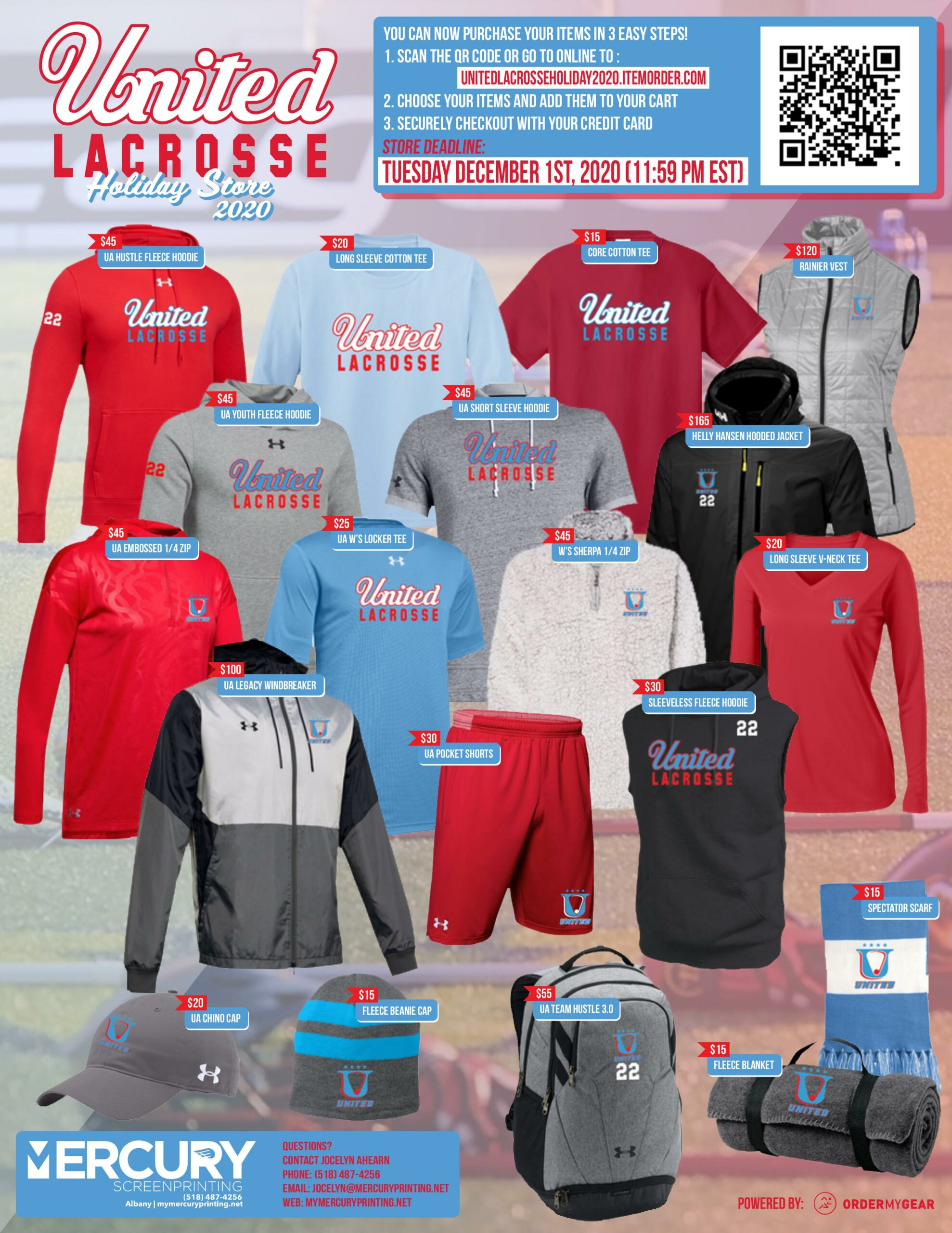 United Lacrosse Holiday Flyer